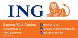 Logo Wim Ceelen ING Bierbeek