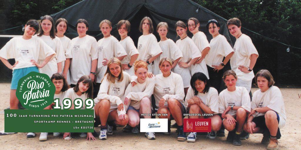 PPW 100 - groepsfoto sportkamp Rennes - 1999