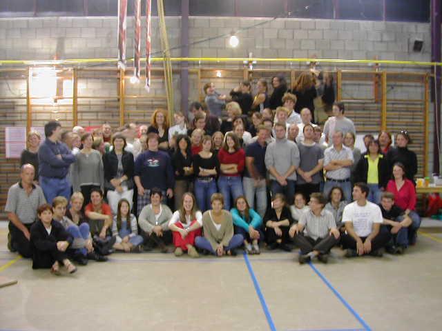 Groepsfoto viering 20 jaar sportkamp PPW