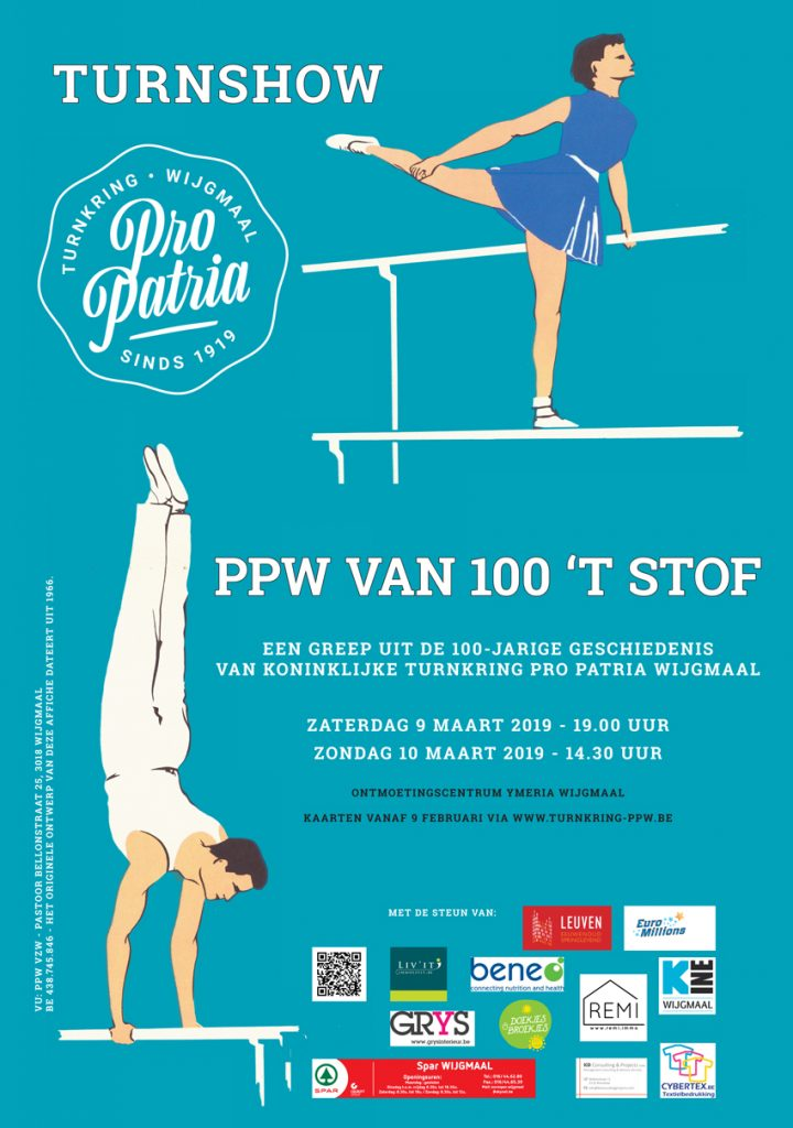 Turnshow 2019 - affiche PPW van 100 't stof