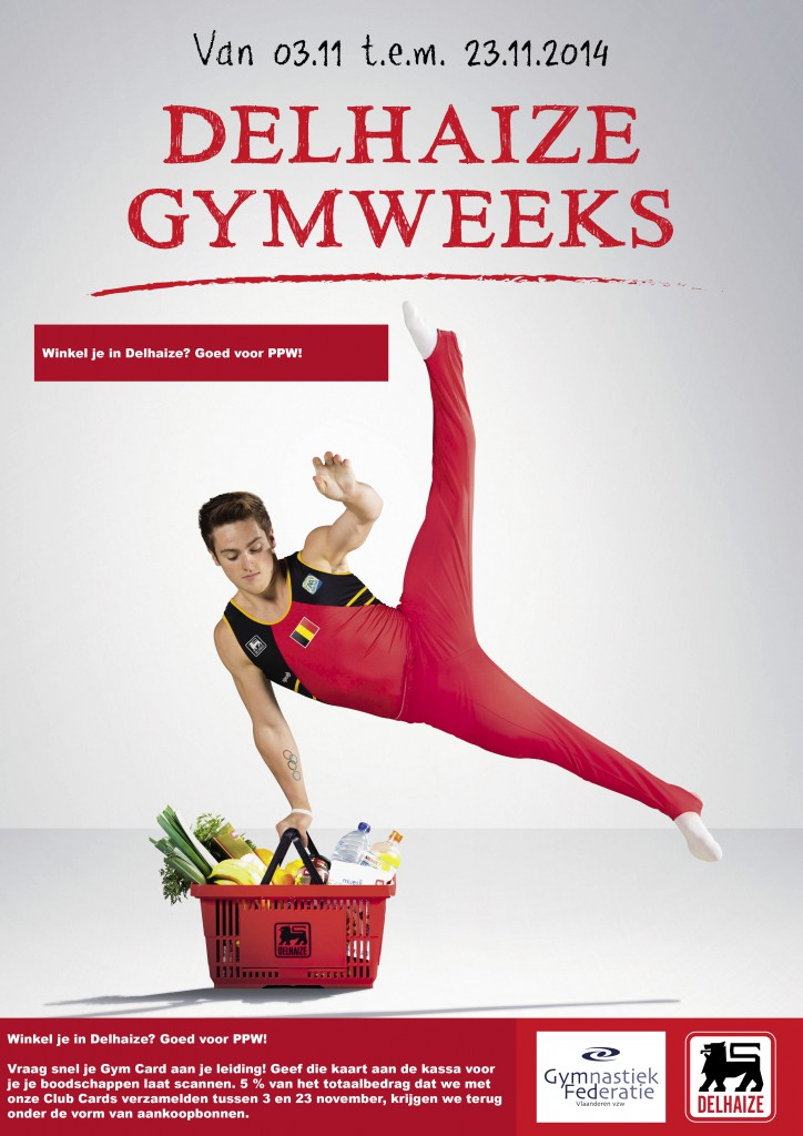 Delhaize Gym Weeks - haal je Gymcards bij je lesgever