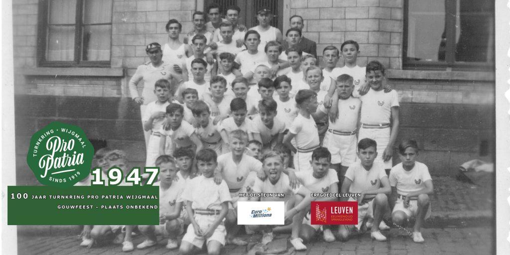 PPW 100 - groepsfoto 1947 - locatie niet bekend