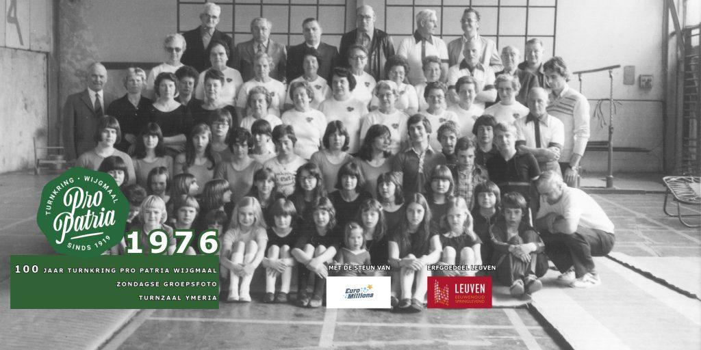 PPW 100 - groepsfoto 1976 Turnzaal Ymeria